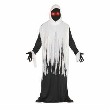 Halloween horror spook foute kleding met lichtgevende ogen