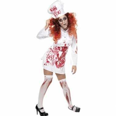 Halloween koks foute kleding met bloed