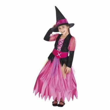 Halloween roze heksen foute kleding voor meisjes