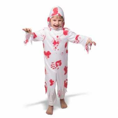 Halloween spook foute kleding met bloed voor kinderen