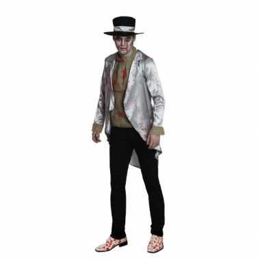 Halloween zombie bruidegom foute kleding voor heren