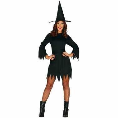 Halloween zwart heksen foute kleding budget voor dames