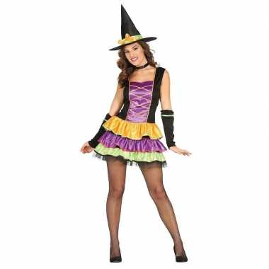 Halloween zwart heksen foute kleding voor dames