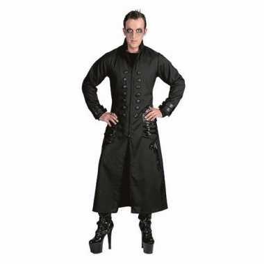 Halloween zwarte gothic/vampier jas foute kleding voor heren