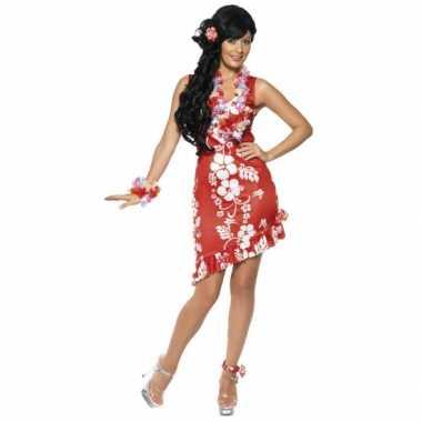 Hawaii foute kleding dames jurkje rood