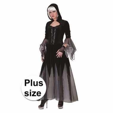 Heksen foute kleding jurk zwart