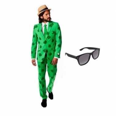 Heren foute kleding sint patricks day maat 54 (2xl) met gratis zonne