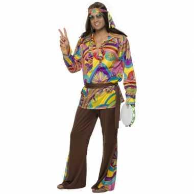Heren hippie foute kleding carnaval