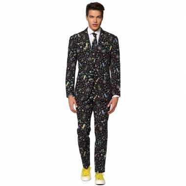 Heren pak/foute kleding disco print