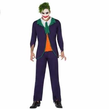 Horrorclown foute kleding joker voor heren