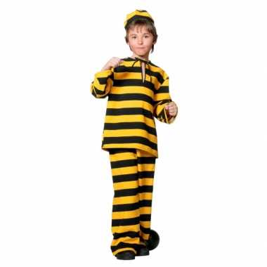 Inbreker foute kleding zwart/geel voor kinderen