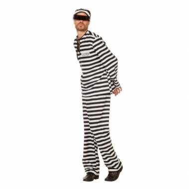 Inbreker foute kleding zwart/wit voor heren