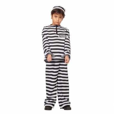 Inbreker foute kleding zwart/wit voor kinderen