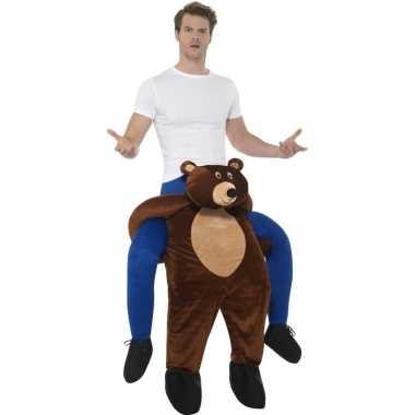 Instap dierenfoute kleding beer voor volwassenen