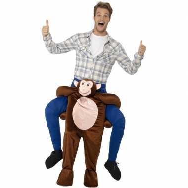Instap dierenpak foute kleding aap voor volwassenen