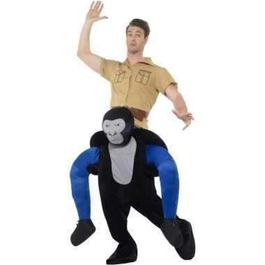 Instap dierenpak foute kleding gorilla voor volwassenen