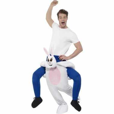 Instap dierenpak foute kleding konijn/haas voor volwassenen