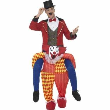 Instapfoute kleding circus clown voor volwassenen