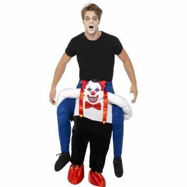 Instapfoute kleding enge horror clown voor volwassenen
