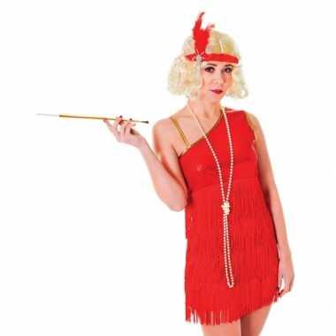 Jaren 20 foute kleding rood jurkje