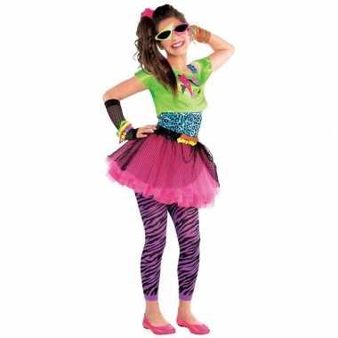 Jaren 80 disco foute kleding feestfoute kleding voor meisjes 10 12 j