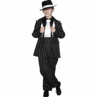 Jongens gangster foute kleding zwart