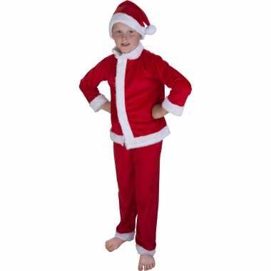 Kerstman foute kleding met muts voor kinderen