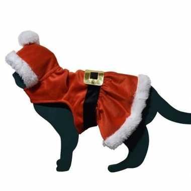 Kerstman pakje foute kleding voor kat/poes