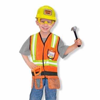 Kinder foute kleding bouwvakker