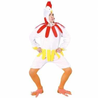 Kip/haan foute kleding wit voor volwassenen