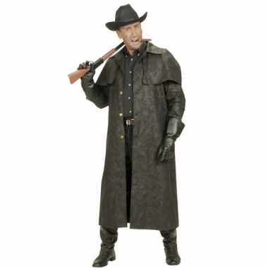 Lange heren jas voor cowboys foute kleding