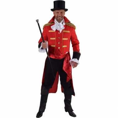 Luxe circus directeur foute kleding rood voor heren