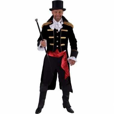 Luxe circus directeur foute kleding zwart voor heren 10064067