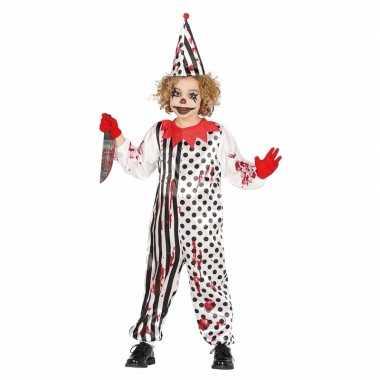 Luxe halloween foute kleding horror pierrot voor kids