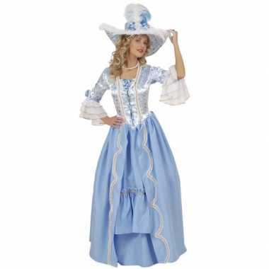 Luxe hofdame foute kleding blauw