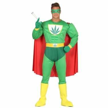 Marihuana man superheld foute kleding voor heren