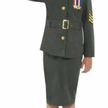 Meisjes army girl foute kleding groen