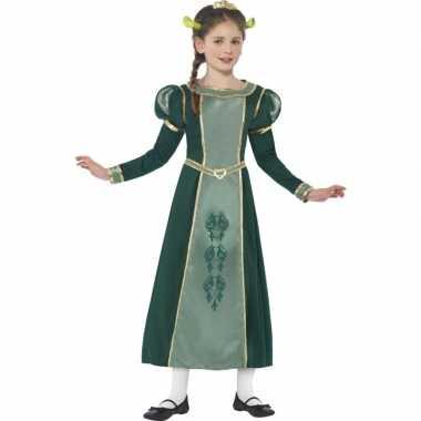 Meisjes groene prinses fiona shrek foute kleding