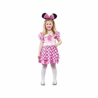Meisjes roze muis foute kleding
