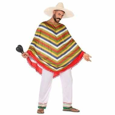 Mexicaans foute kleding/poncho voor heren