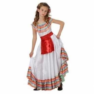 Mexicaans meisje foute kleding met rood schortje