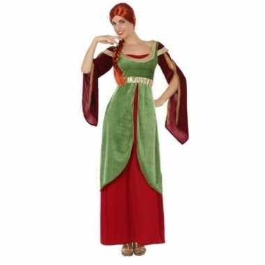 Middeleeuwse jonkvrouw/prinses foute kleding voor dames