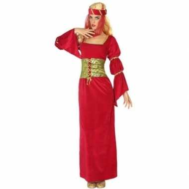 Middeleeuwse prinses/jonkvrouw foute kleding voor dames