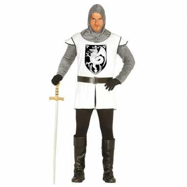 Middeleeuwse ridder foute kleding wit voor heren