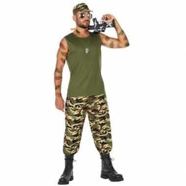 Militair/soldaat pak/foute kleding voor heren