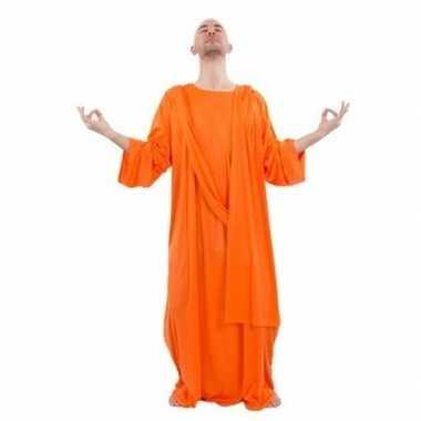 Monnik foute kleding oranje voor heren