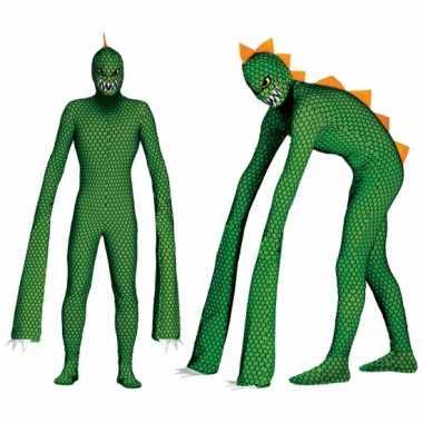 Monster reptielen foute kleding met lange armen voor heren
