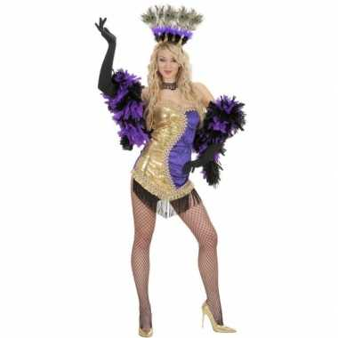 Moulin rouge foute kleding goud/paars