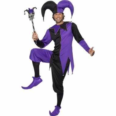Narrenfoute kleding zwart/paars voor heren