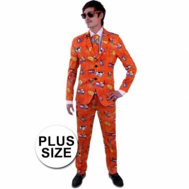 Nederland foute kleding grote maat pak voor heren